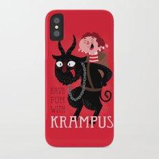 Have fun with Krampus iPhone X Slim Case