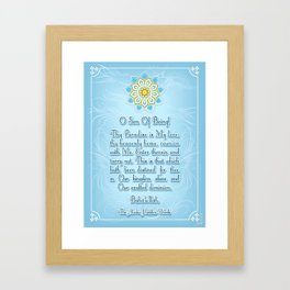 Enter therin and tarry not Framed Art Print