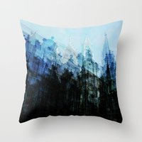 brussels Throw Pillows featuring Brussels 2 by Mina & Jon