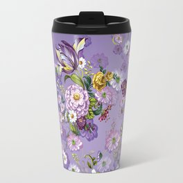 Purple Flowers II Travel Mug