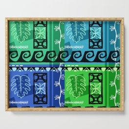 Hawaiian Pattern #1 - marine colors! Serving Tray