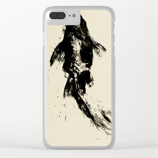 Black Koi Clear iPhone Case