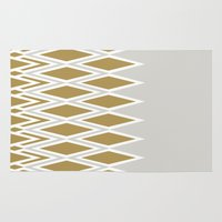 crown Area & Throw Rugs featuring crown by lorelei art design