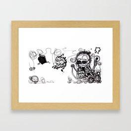 Dark Diary Framed Art Print