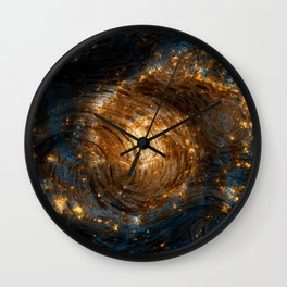 Starry Galaxy Night Wall Clock