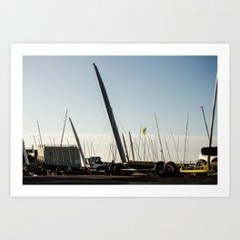 Sailboats Chars à voile Art Print
