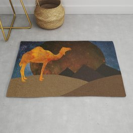 Camel, Desert and Pyramid Rug