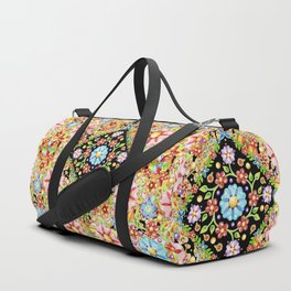Boho Chic Flower Garden Duffle Bag