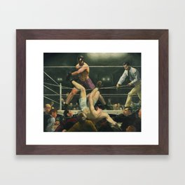 Dempsey and Firpo Boxing - George Bellows Framed Art Print