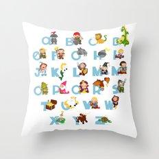 ABC  medieval (english) Throw Pillow