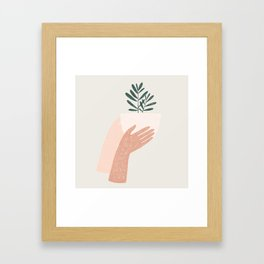 give plants, spread love Framed Art Print