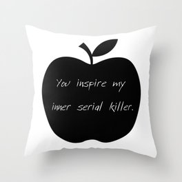 Apple | Black apple | dark apple | Rotten apple | Gothic apple Throw Pillow