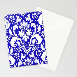 PAISLEY DAMASK BLUE AND WHITE 2019 PATTERN Stationery Cards