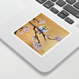 Cherry Blossom Chicks Sticker