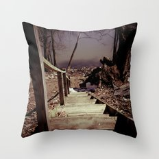 Walking The Murky Waters Throw Pillow