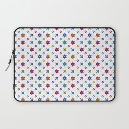 Small Flowers in White Laptop Sleeve