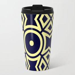 Composition in Texas Yellow and Stratos Blue Travel Mug