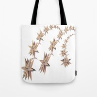 constellation Tote Bags featuring constellation by Tanja Riedel