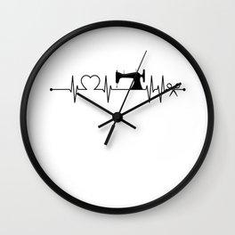 Sewing Heartbeat Dark Wall Clock