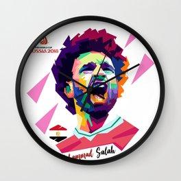 Mohammad Salah In Pop  Art Wall Clock