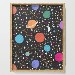 Astrology Pattern Serving Tray