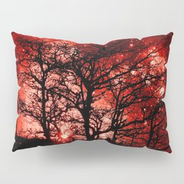 black trees red space Pillow Sham