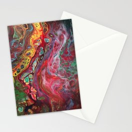 Acrylic Pour Multi Color Stationery Cards