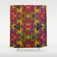 escher Shower Curtains featuring Escher Tile by RingWaveArt