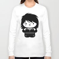 sandman Long Sleeve T-shirts featuring Chibi-Fi Death of The Endless by Eozen