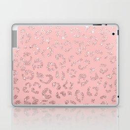 Modern faux rose gold glitter leopard ombre pink pattern Laptop & iPad Skin