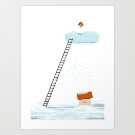 Getting ready for Christmas! Art Print