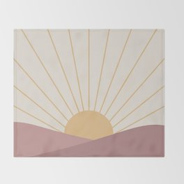 Morning Light - Pink Throw Blanket