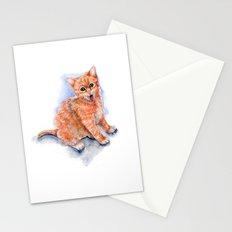 Happy Orange Kitten Stationery Cards