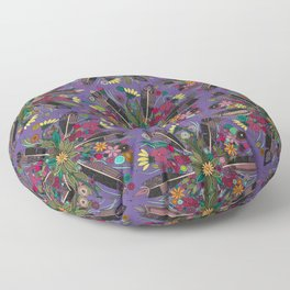 bohemian posy violet Floor Pillow