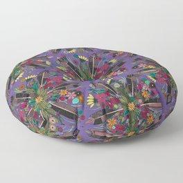 bohemian posy violet Floor Pillow