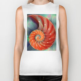 Nautilus Shell - Nature's Perfection by Sharon Cummings Biker Tank