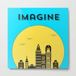 The Imaginary City Metal Print
