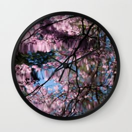 Spring Reflections Wall Clock