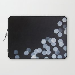 No. 44 - Print of Bokeh Inspired Black and White Modern Abstract Painting Laptop Sleeve