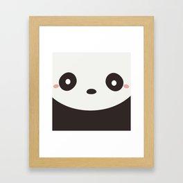 Kawaii Cute Panda Bear Framed Art Print