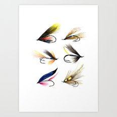 Classic Salmon Fishing Flies Art Print