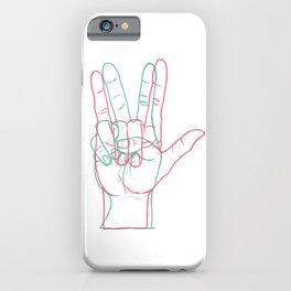 PEACE&LOVE iPhone Case