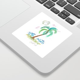 """Beach Afternoon"" Sticker"