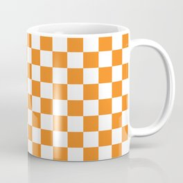 Orange Checkerboard Pattern Coffee Mug