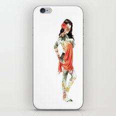 Floral Pin Up Girl iPhone & iPod Skin