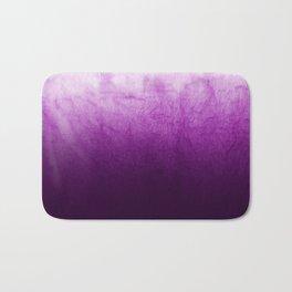 Purple Watercolor On Cotton Bath Mat