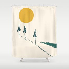The Forest Tree Line Shower Curtain