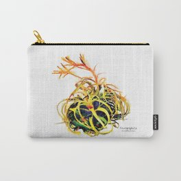 Tillandsia Xerographica Air Plant Watercolor Carry-All Pouch