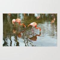 wildlife Area & Throw Rugs featuring Wildlife Animals by Felicia Caravaca