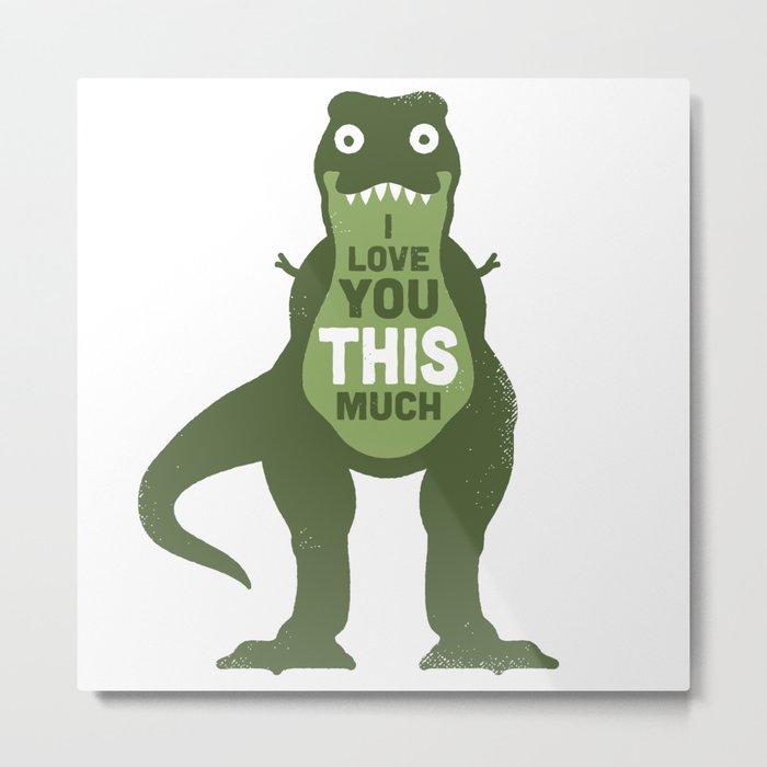 Amourosaurus Metal Print